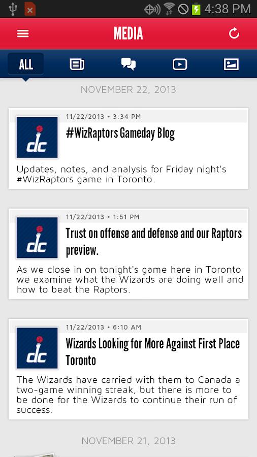 Washington Wizards Mobile - screenshot