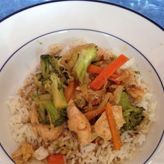 Kim's Stir-Fried Ginger Garlic Chicken.