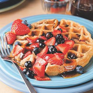 Multigrain Blueberry Waffles
