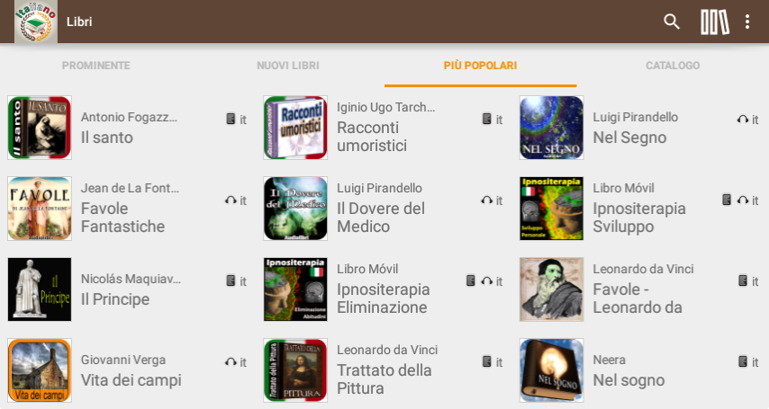 Libri e Audiolibri in Italiano- screenshot