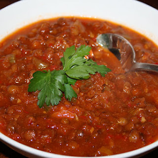 Spiced Red Pepper & Lentil Soup