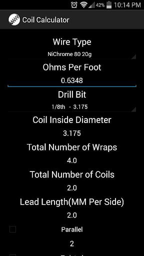 TBH Coil Calculator