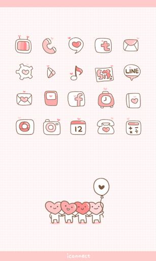 LOVE Pink icon theme