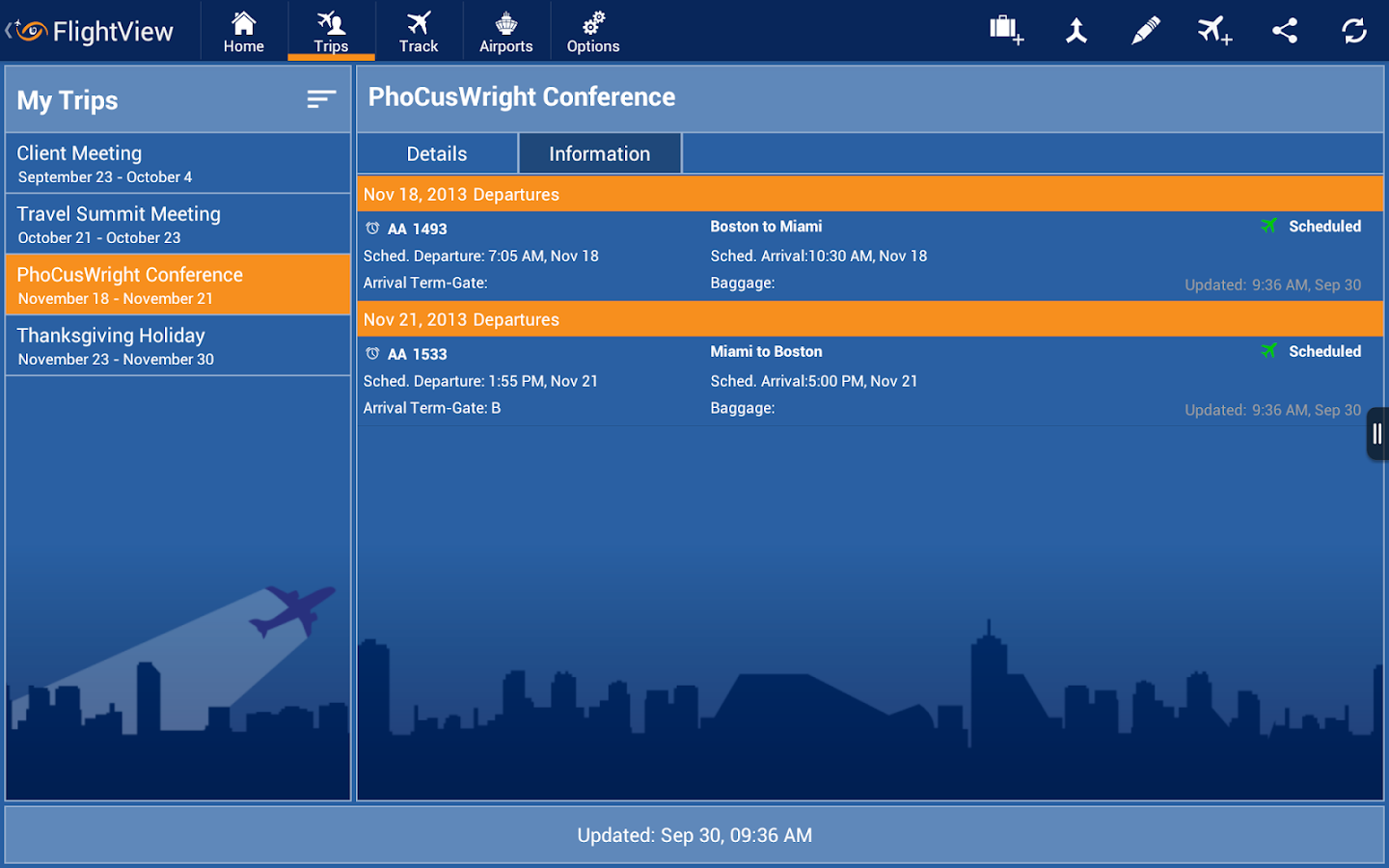 FlightView – Flight Tracker- screenshot