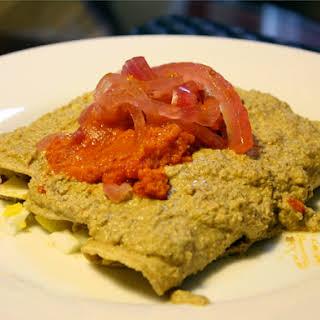Yucatecan Papaduzul (Enchiladas Stuffed with Hard-Boiled Eggs).