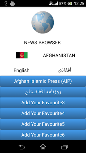 Afghanistan News Browser