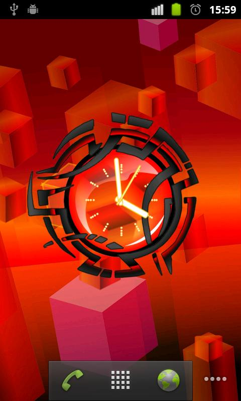 Art Clock live wallpaper- screenshot