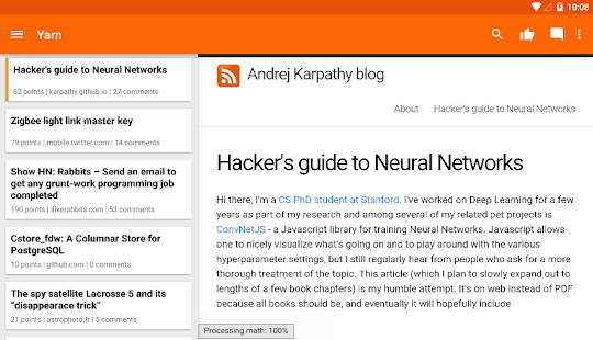 Yarn for Hacker News Screenshot 9