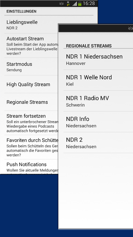 NDR Radio- screenshot