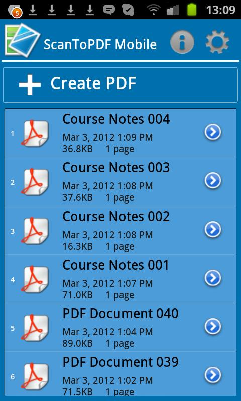 ScanToPDF Mobile Free- screenshot