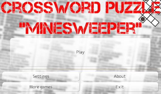 Crossword Puzzle: Minesweeper- screenshot thumbnail