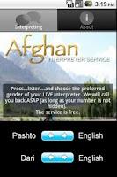 Screenshot of Afghan Interpreters Service