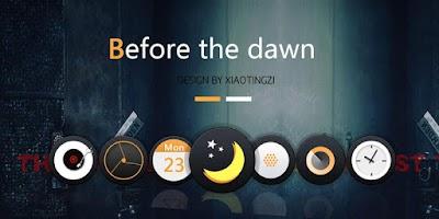 Screenshot of Before The Dawn GO Theme