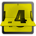 3D Animated Flip Clock YELLOW logo
