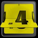 3D Animated Flip Clock YELLOW logo