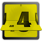 3D Animated Flip Clock YELLOW icon