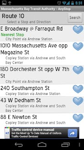 MBTA: AnyStop - screenshot thumbnail