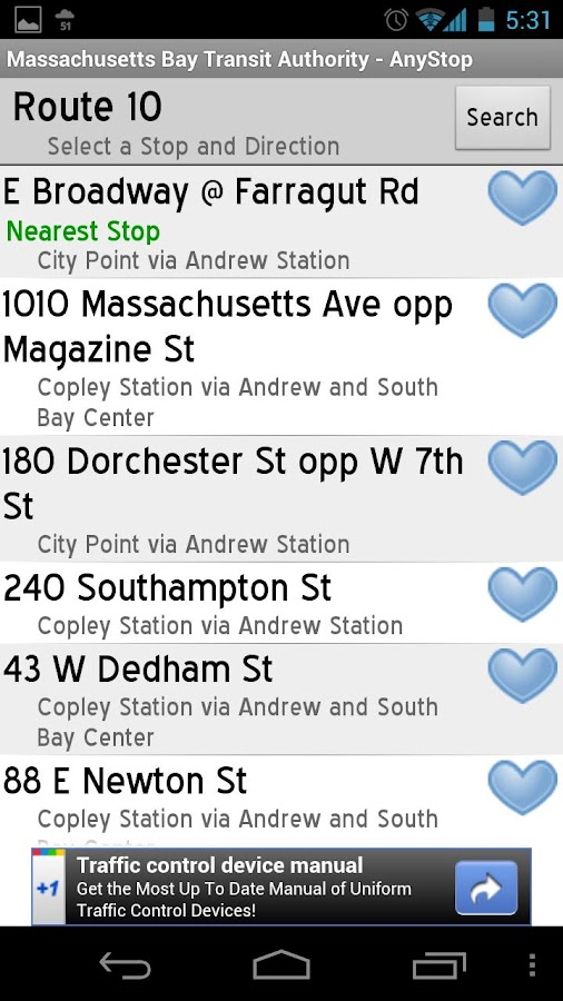 MBTA: AnyStop - screenshot