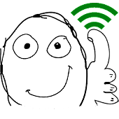 WiFi  Troll Face Widget