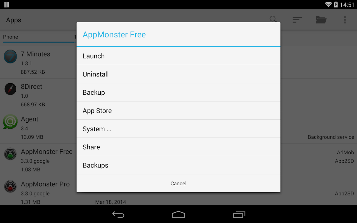 AppMonster Pro Backup    Restore - screenshot