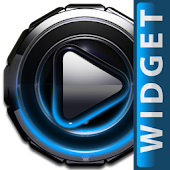 Poweramp widget Light Blue