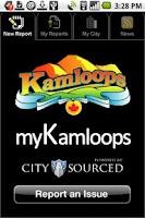 Screenshot of myKamloops