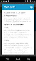 Screenshot of metroNotify
