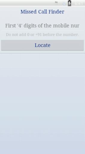 Missed Call Finder-Locator