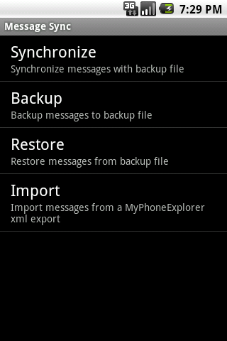 Message Sync - screenshot