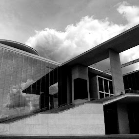 Architecture of power by Christine Schmidt - Black & White Buildings & Architecture ( rgierungsviertel, berlin, government, concrete )