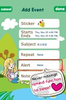 Screenshot of Girl's Note