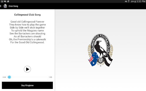 Collingwood Official App- screenshot thumbnail