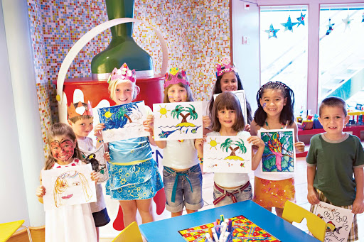 Youth-Center-Princess-Cruises - Bringing your little one on board? The Youth Center aboard your Princess ship offers a venue full of activities, including drawing and face painting.