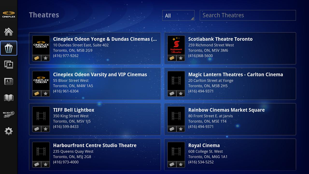 Cineplex - Google TV - screenshot