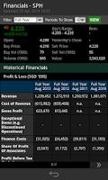 Screenshot of ShareInvestor Mobile