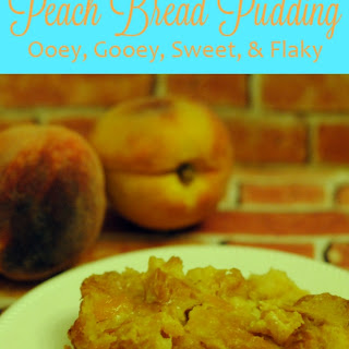 Peach Bread Pudding Recipe with Croissants
