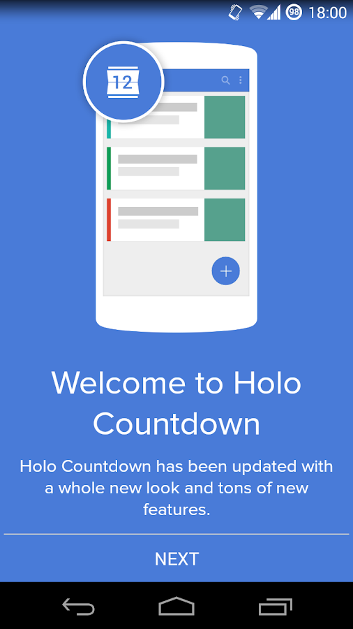 Holo Countdown- screenshot