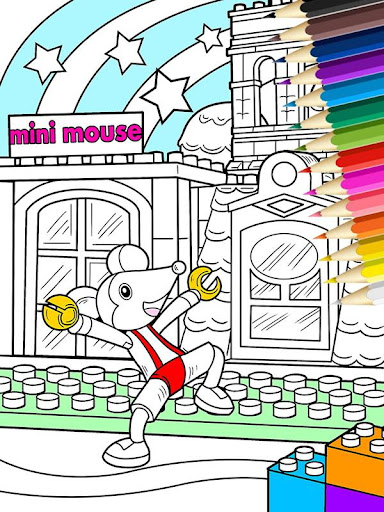 Blok Mouse Coloring