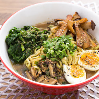 Winter Mushroom Ramen with King Trumpet Mushrooms & Soft-Boiled Eggs