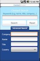 Screenshot of Contact:Finder