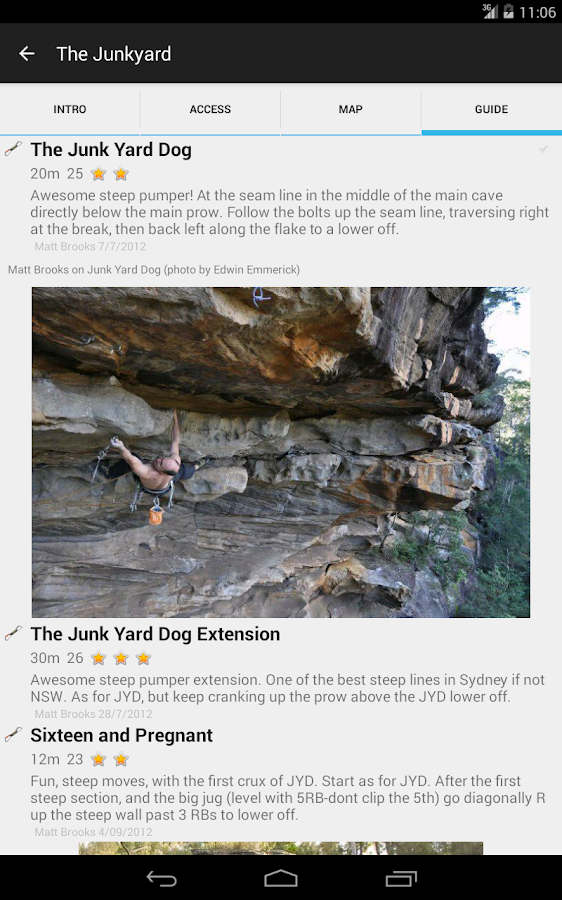 Sydney Climbing Guide- screenshot