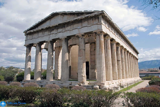 The Temple of Hephaestus in Athens, Greece, was begun in 449 BC, just two years before the Parthenon.