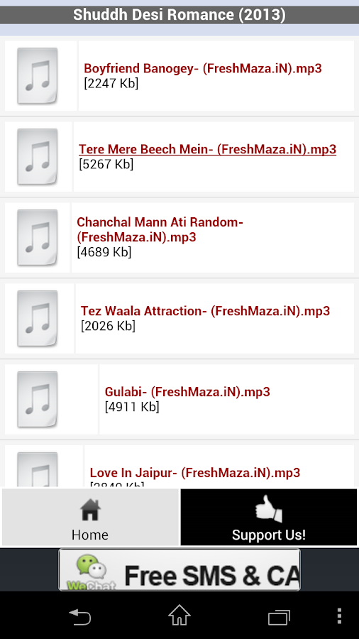 FreshMaza.iN - Bollywood Music - screenshot