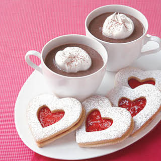 Raspberry Linzer Heart Cookies.