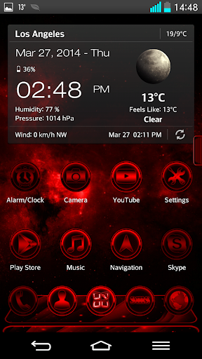 NEXT LAUNCHER THEME SUPERNOVAr