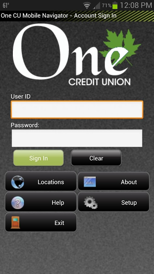 One Credit Union - Vermont - screenshot