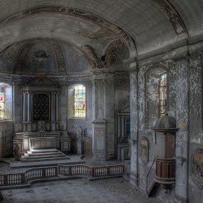 Eglise du solitaire by Greg Warnitz  - Buildings & Architecture Decaying & Abandoned ( urban, church, hdr, decay, abandoned )