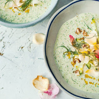 Cucumber and Yogurt Soup With Walnuts and Rose Petals From 'A Change of Appetite'