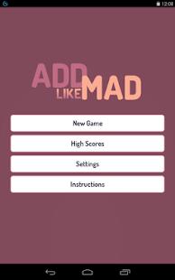 Add Like Mad - The Number Game screenshot