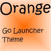 Orange Go Launcher EX Theme